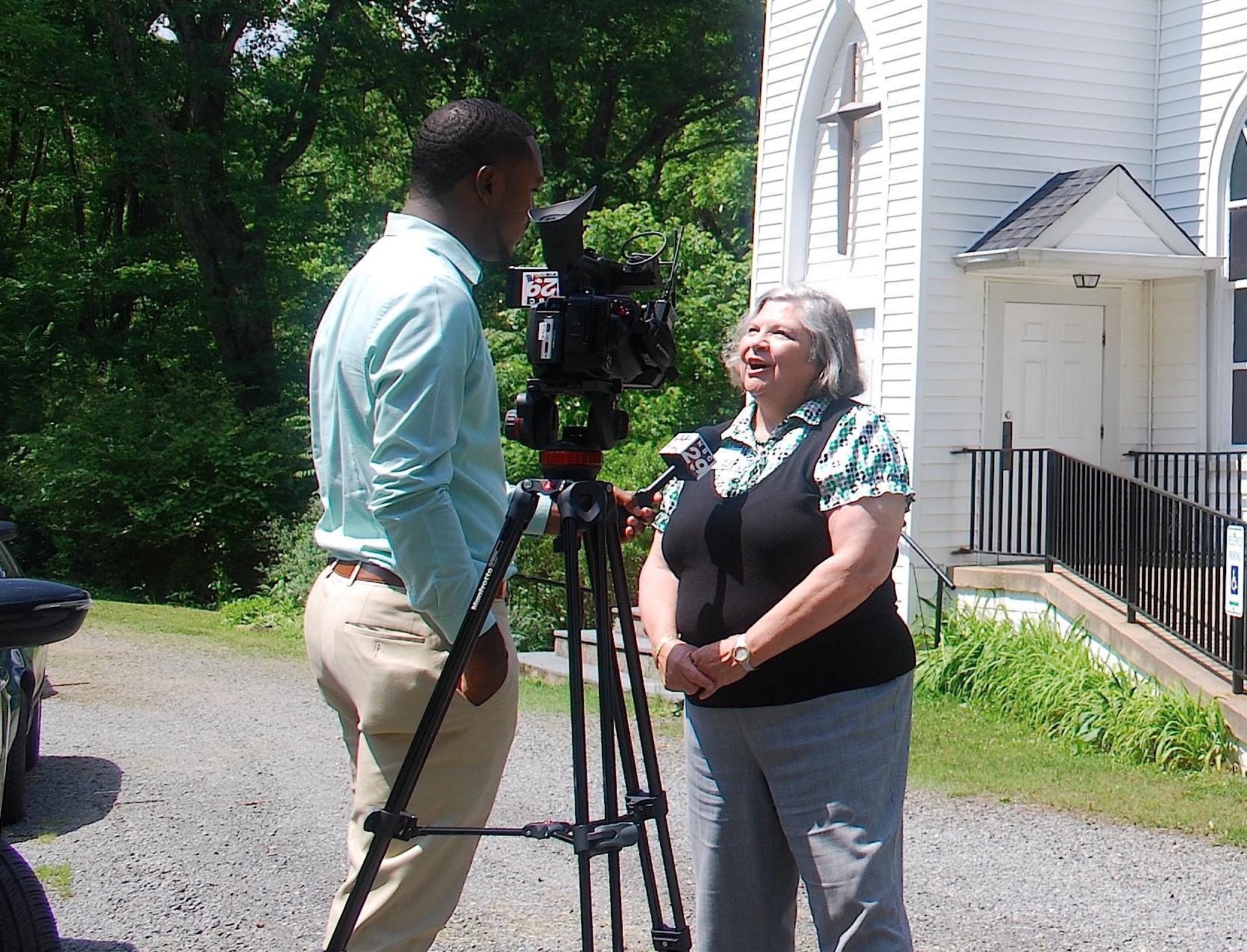 JABA CEO Marta Keane speaks with the media.