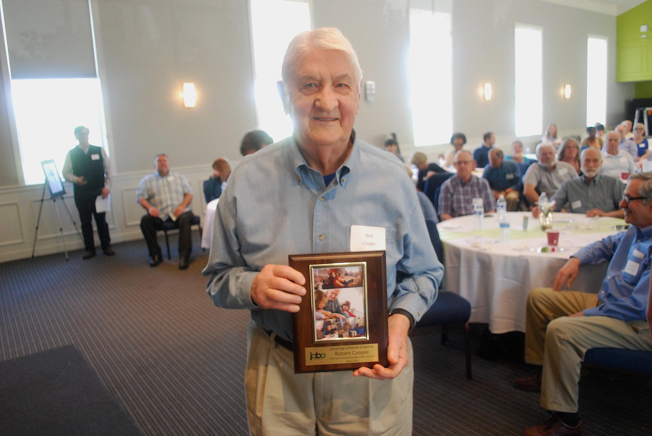 Long-time JABA volunteer Bob Cooper