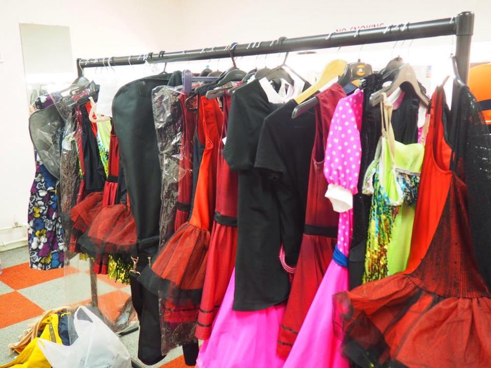 Costumes ready backstage!
