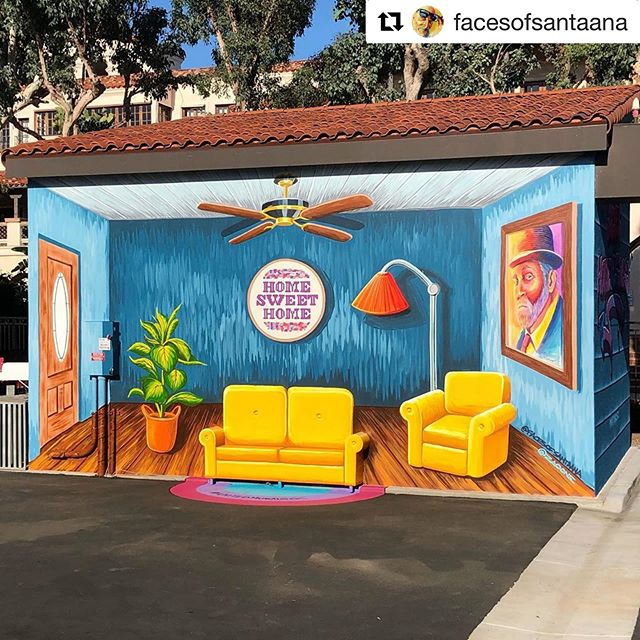 """Have you been watching what the Lord has been doing with @facesofsantaana @zaoone @brianpetersonart 🤯😭❤️🎉👏🏽 ・・・ """"What solves homelessness?""""...a home!. . Incredibly grateful to partner with @unitedway  @unitedtoendhomelessness and @costamesafirstumc @behrpaint and @zaoone and Ned McGown on United Ways first mural advocating for housing for the homeless. The whole process has been an amazing experience for us all. This project has transformed into much more than just a mural, but a piece of art that can be experienced, and an opportunity for others to advocate for their neighbors. People from cities all over Orange County have sat on our 3D couch, and shared their heart and advocacy towards seeing our neighbors experiencing homelessness off the streets. Many of our FOSA clients have recently been housed and we have witnessed tangible change in their dignity, emotions, and well being. We hope to see this for many more. Join the movement and help @unitedtoendhomelessness raise awareness for housing for the homeless. #unitedmuralsoc"""