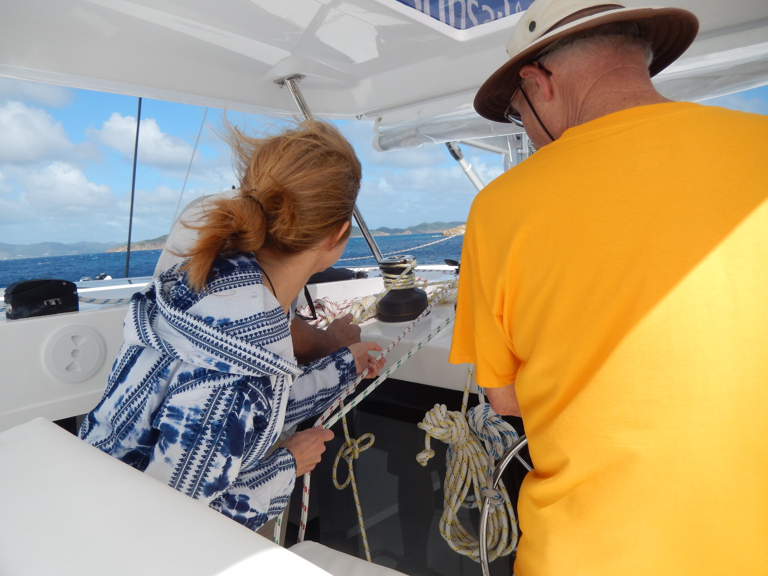 Learning the ropes in BVI!