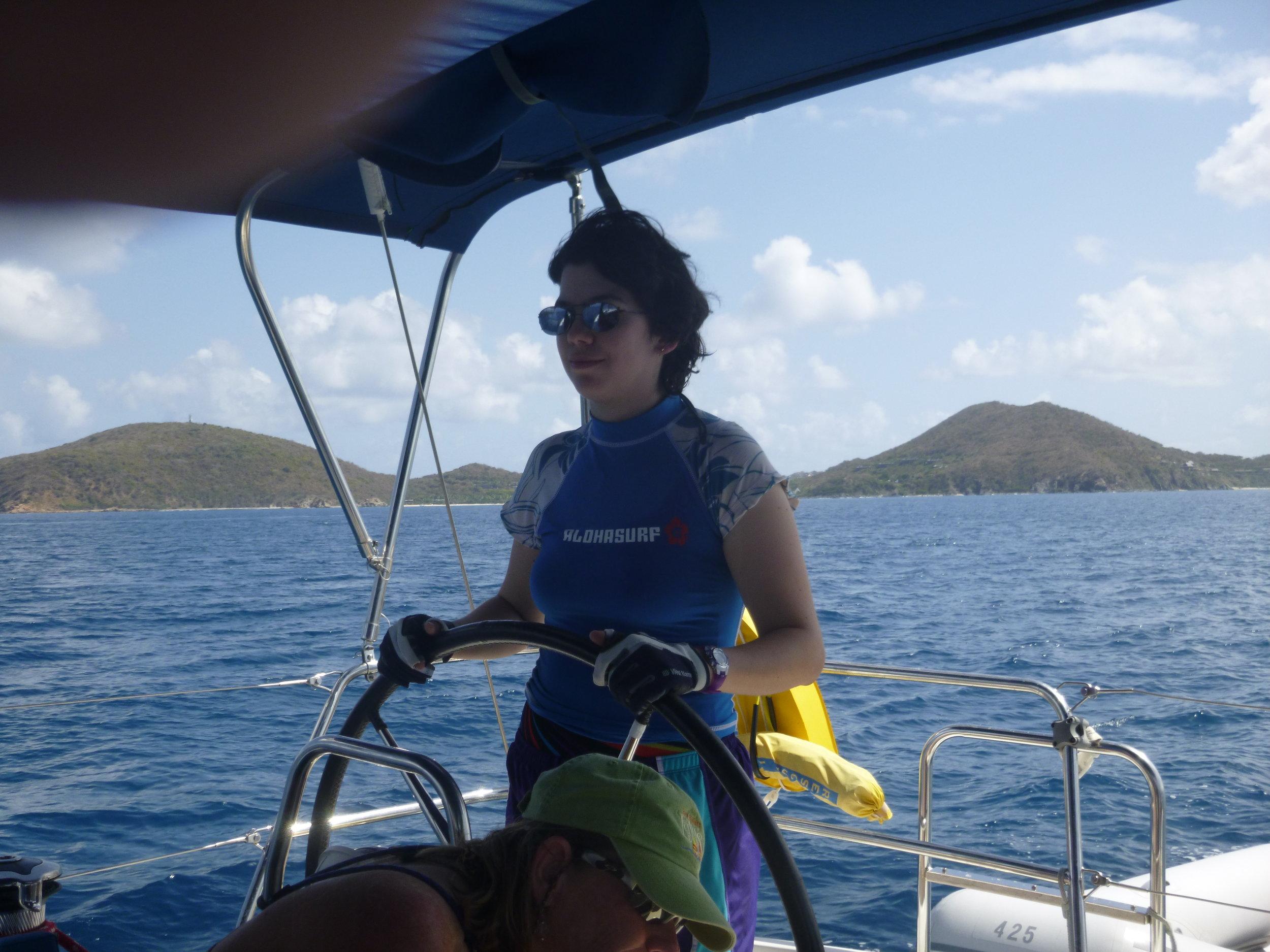 Alecia at the helm….