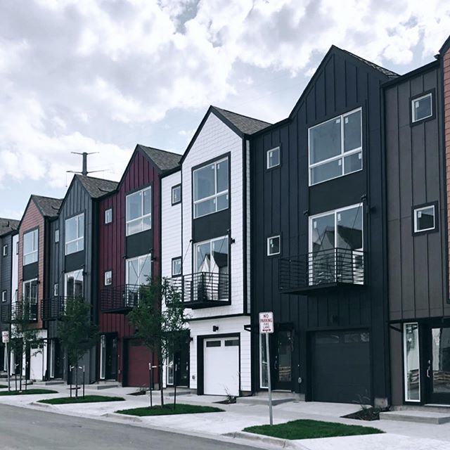 West Line Village | Lakewood, CO  #architecture #coloradoarchitects #design #colorado #westlinevillage #archilovers #archigram #architecturephotography #architecturelovers #modern #color #urban #urbandwellers #rowhouse #transitorienteddevelopment #liveforward #sheridanstation