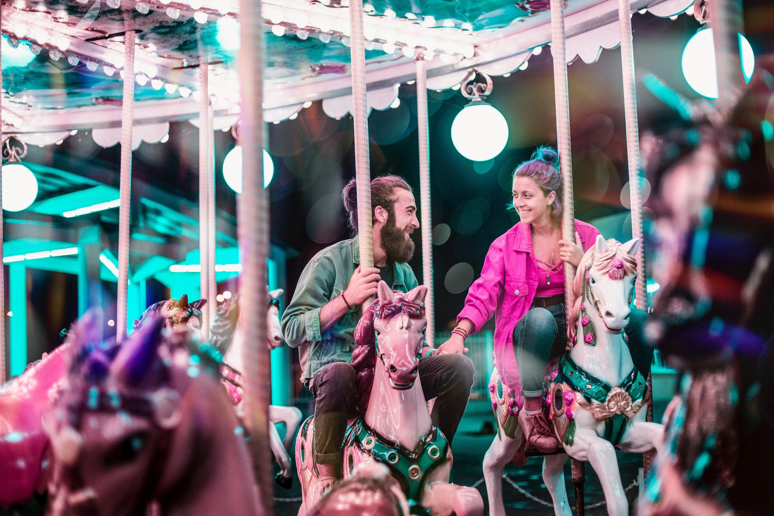 Couple on a Carousel