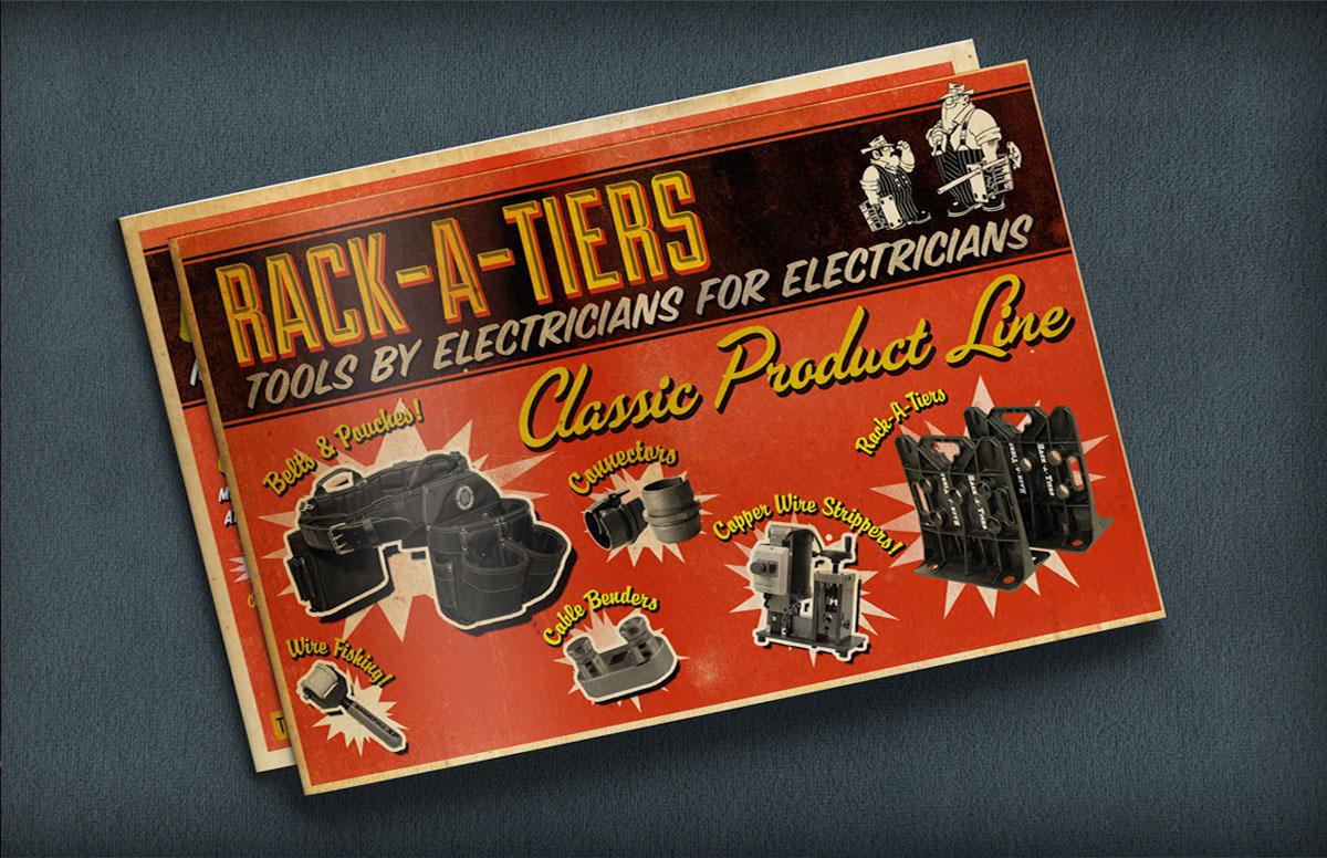 Catalog Design: Rack-A-Tiers MFG
