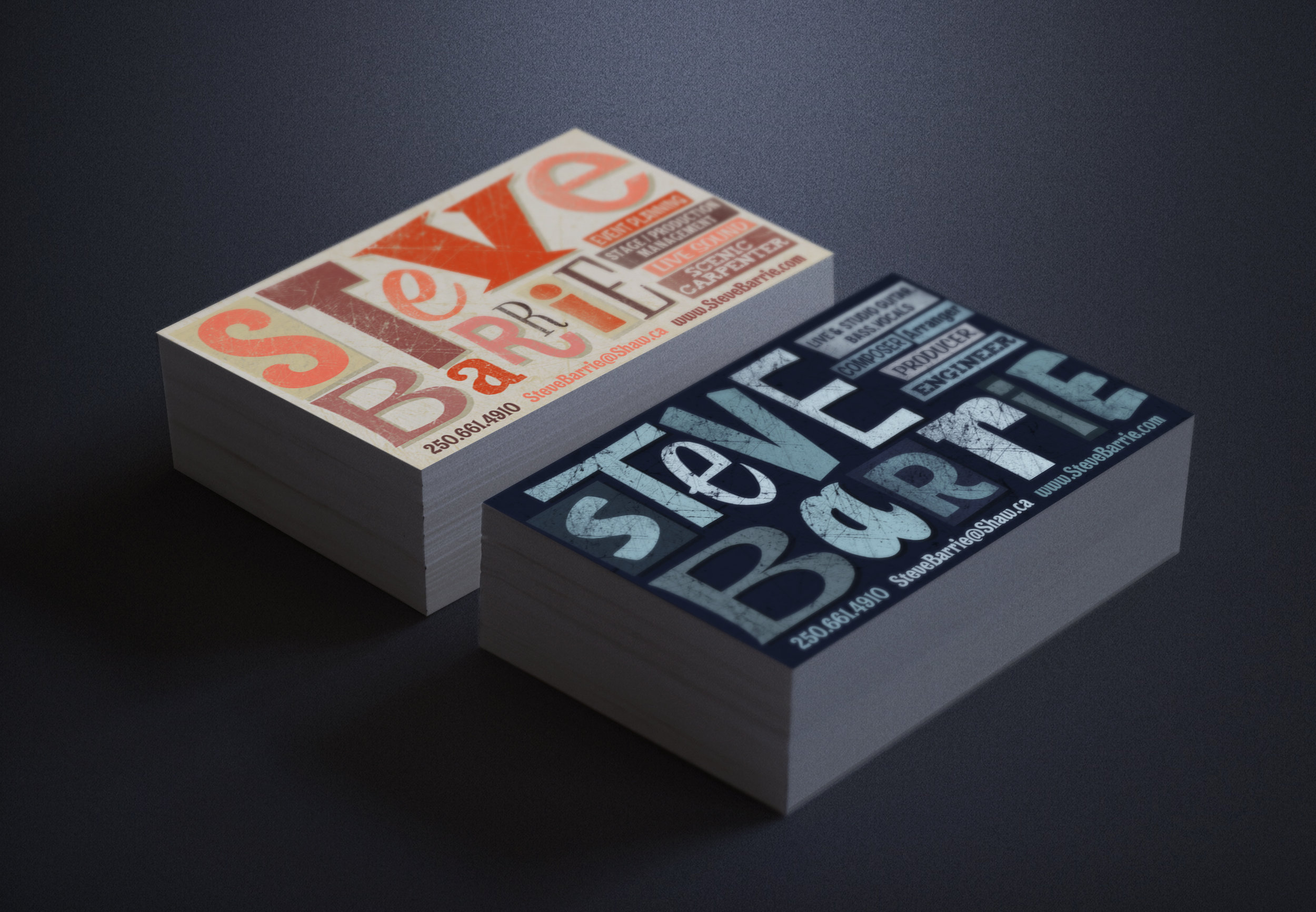 Business Card Design: Steve Barrie