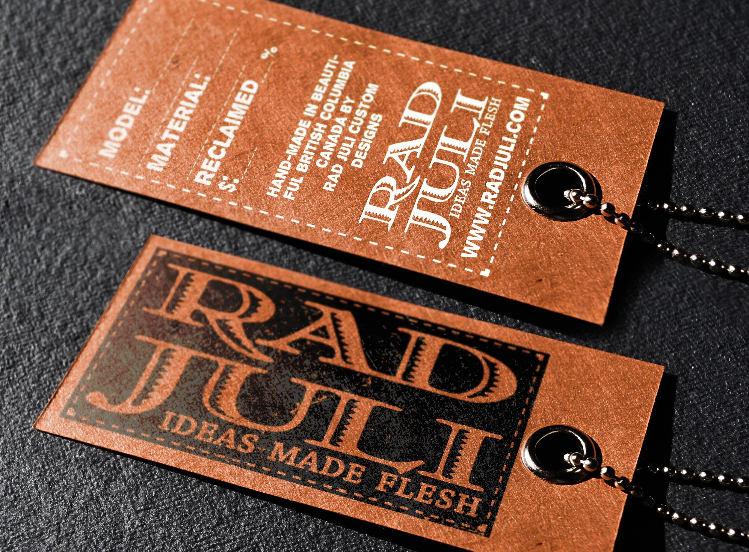 Merchandise Tag Design: Rad Juli