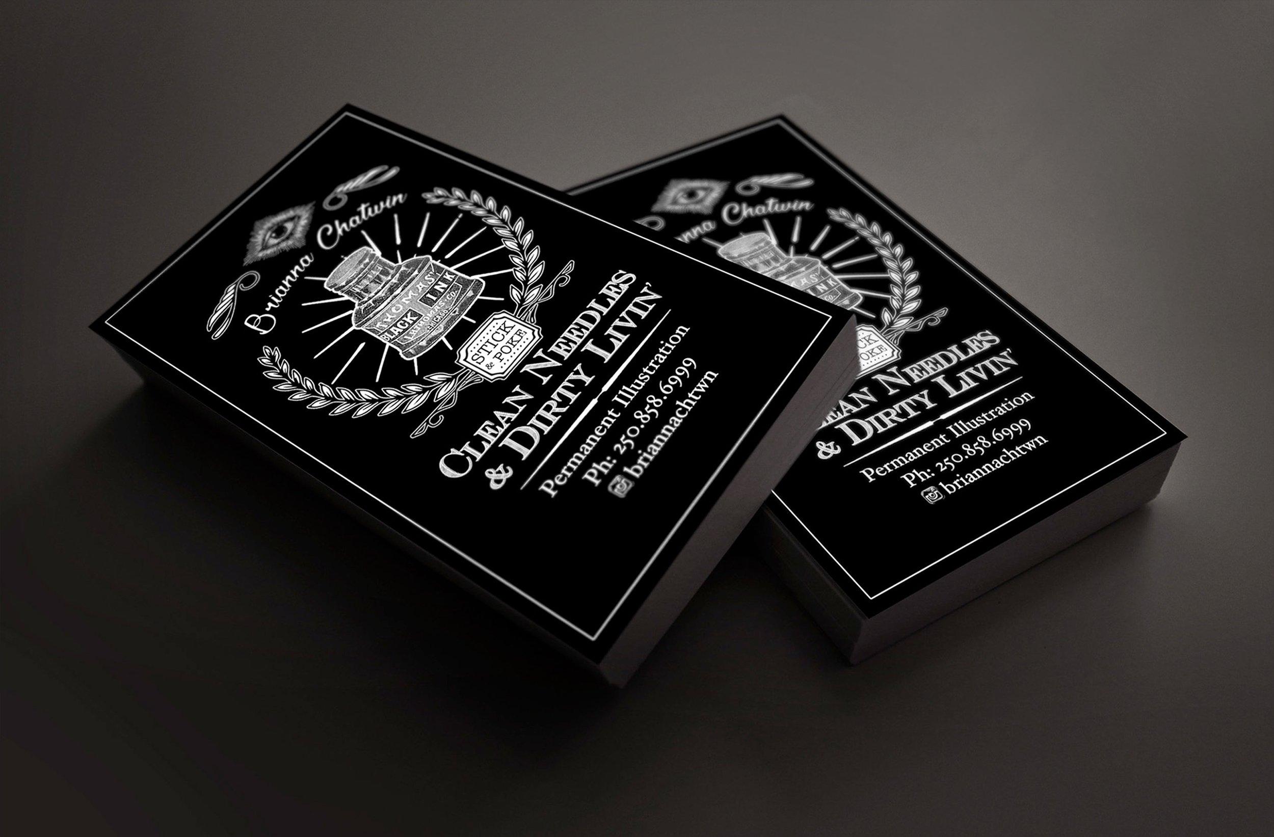 Business Card Design: Brianna Chatwin, Tattoo Artist