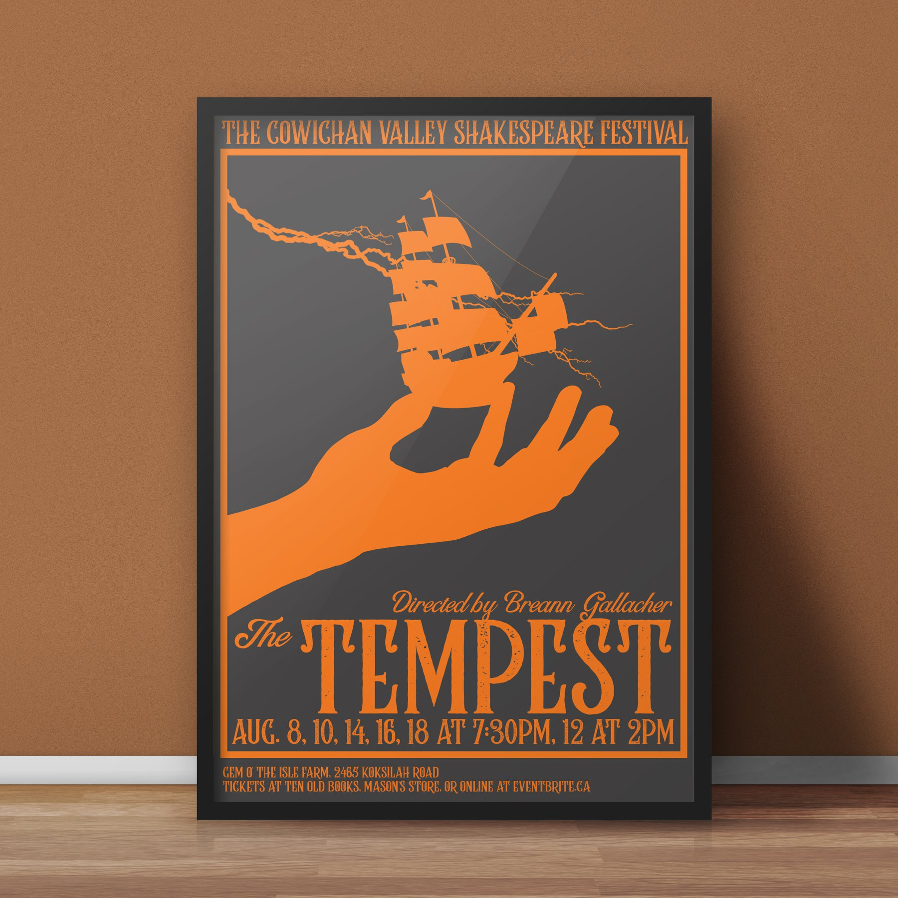 Poster Design: Cowichan Valley Shakespeare Festival: The Tempest