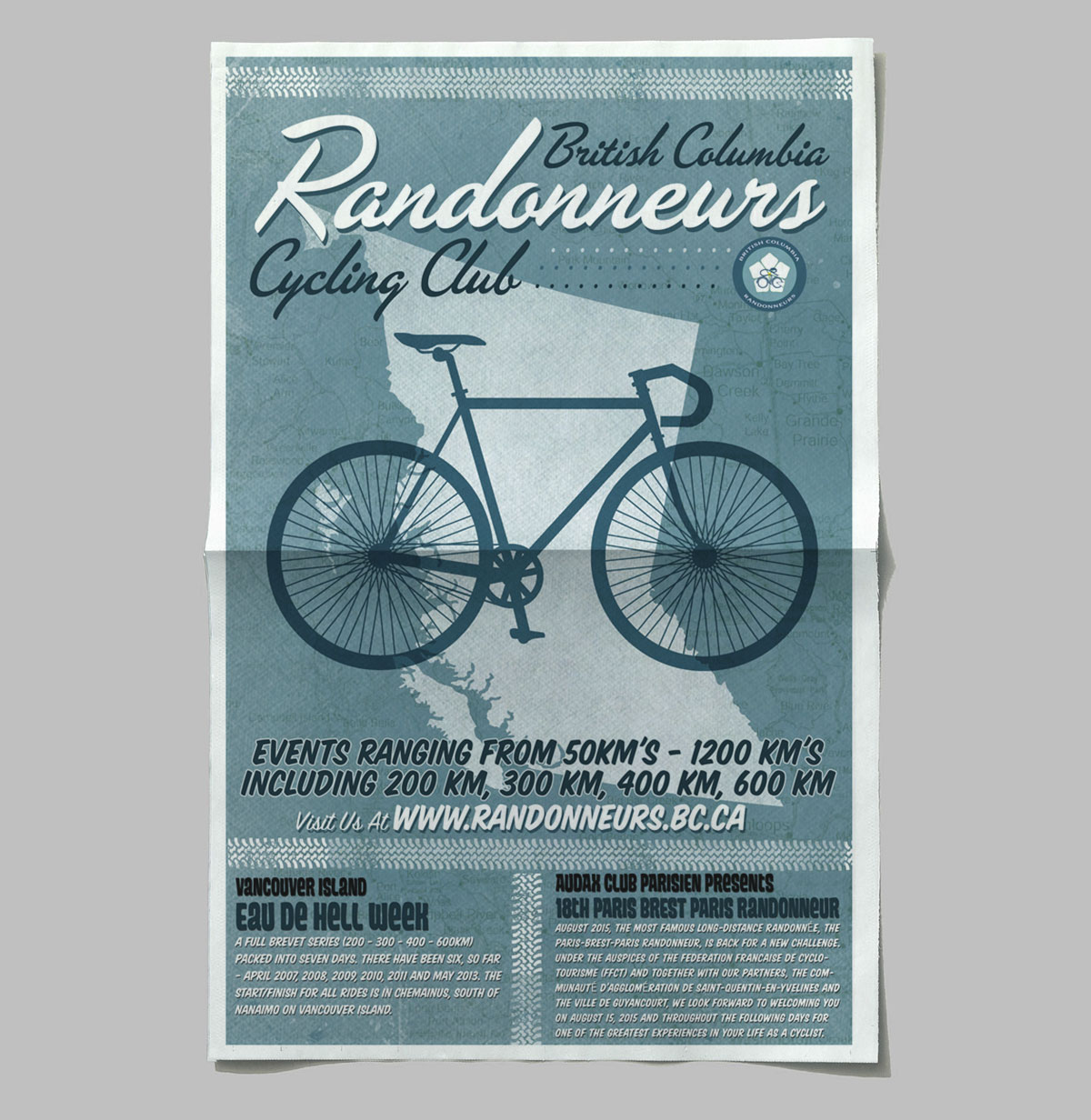 Poster Design: British Columbia Randonneurs Cycling Club