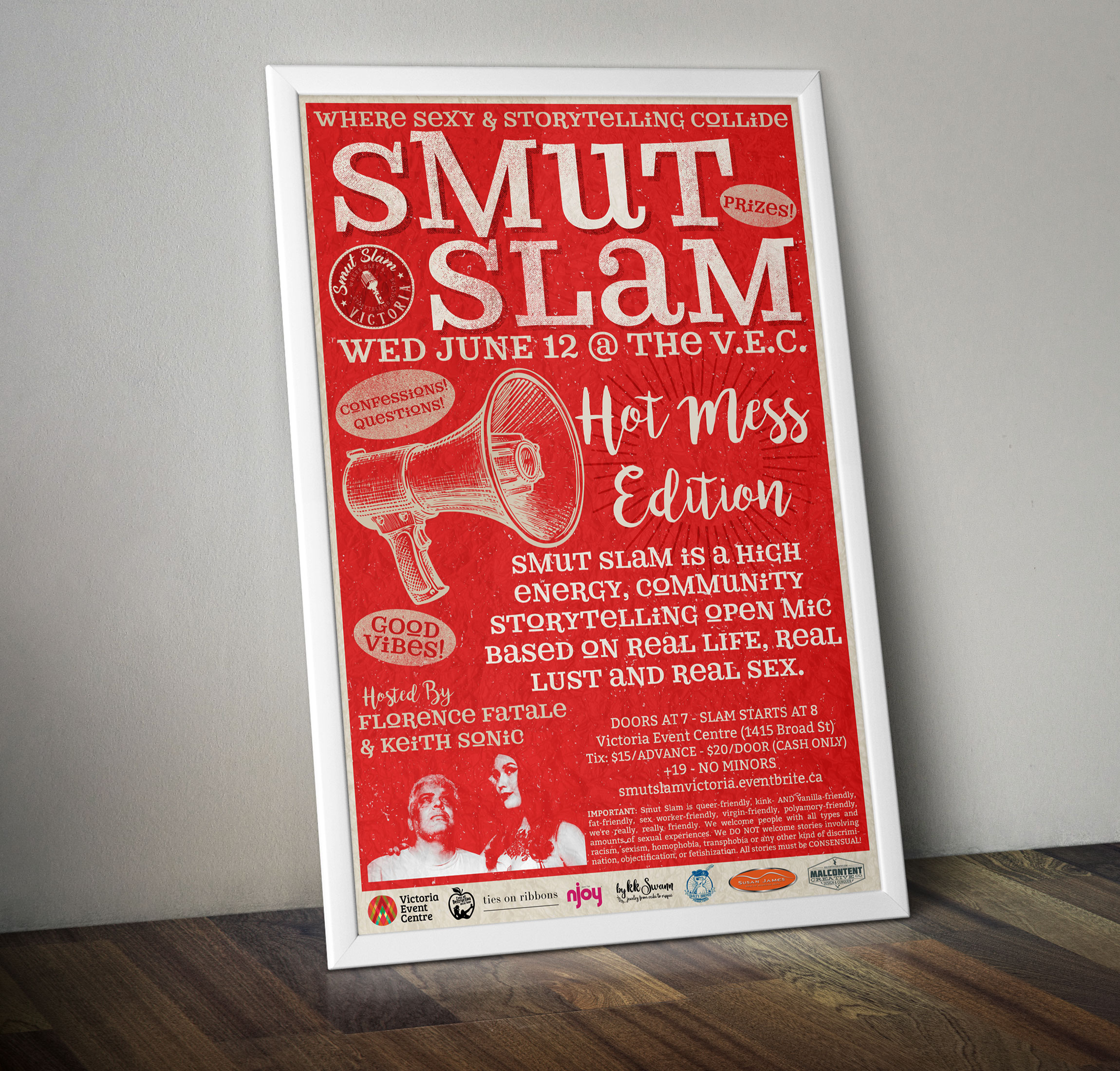 Poster Design: Smut Slam Victoria