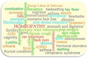 What does homeopathy treat?