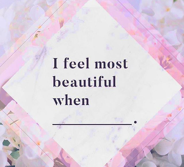 "I feel most beautiful when...I allow myself to be ""soft"" and not hardened. When I can take a big deep breath and feel it fill my chest and then exhale, making room for more joy, love and compassion for myself and others. Being soft allows me to open my heart space and listen without an agenda. That's when I feel most beautiful. - Jess 💛 When do you feel MOST beautiful? Share with us! 🦄"
