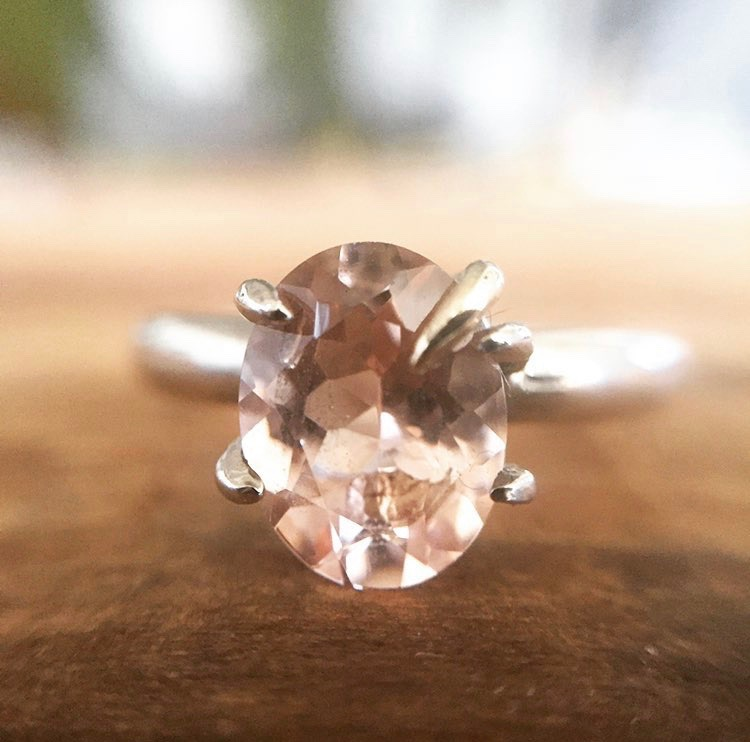 Morganite & Gold Engagement Ring
