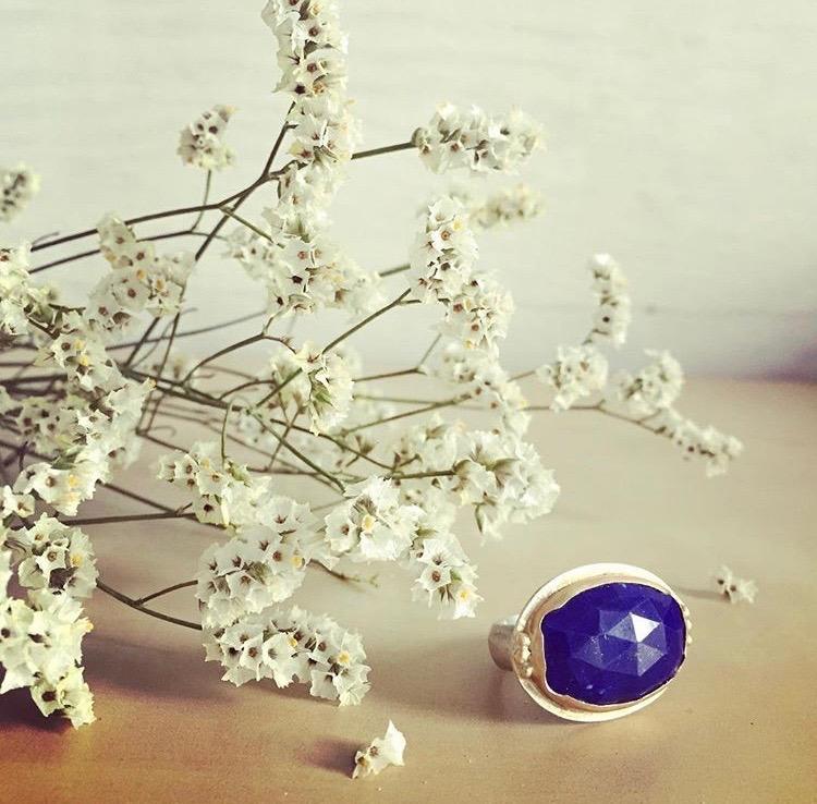 Lapiz & Gold Ring