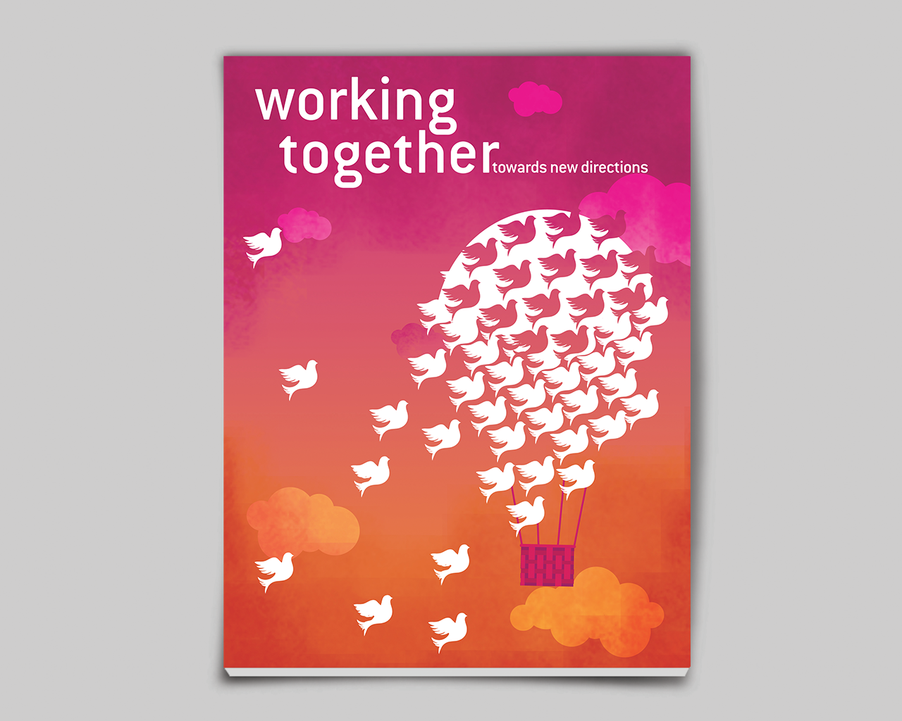 A newsletter cover for a non-for-profit organisation called Youthreach. They work to spread awareness about underprivileged children and youth, environment and disability by bridging the gap between corporates and not-for-profits through volunteer programmes and community workshops. The annual newsletter is called Working Together.