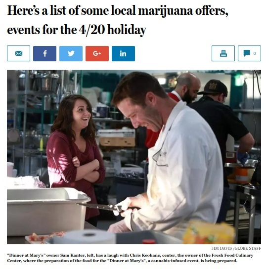 Here's a list of some local marijuana offers, events for the 4/20 holiday - THE BOSTON GLOBE 4.18.19