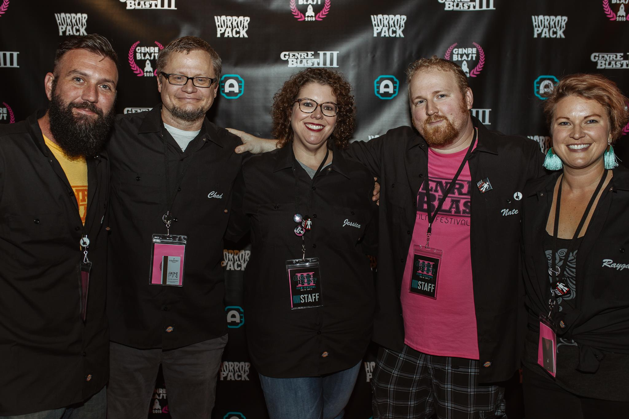 Pictured (left to right): Chris Thomas, Chad Farmer, Jessica Crump, Nathan Ludwig, Raygan Ketterer