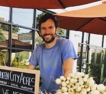 Ethan at market