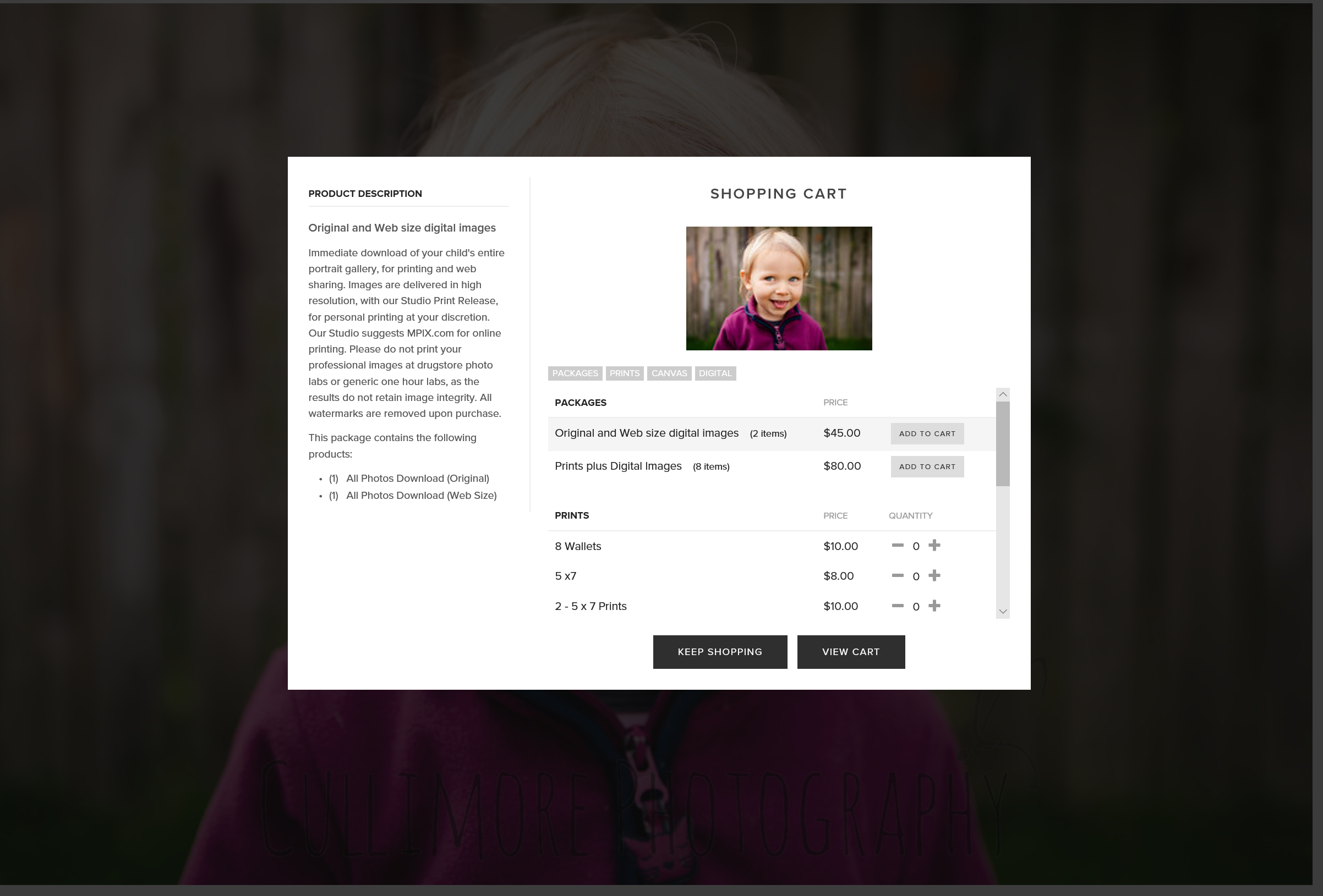 How do the parents order pictures? - From the online gallery, they choose the image they want, click the shopping cart, then choose what they would like to buy.All sales are done online.