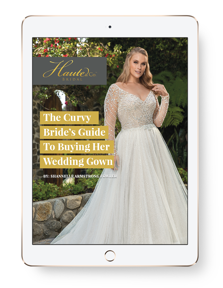 Sign Up to receive - a complimentary copy of our ebook, The Curvy Bride's Guide To Buying Her Wedding Gown, plus access to exclusive promotions and discounts.