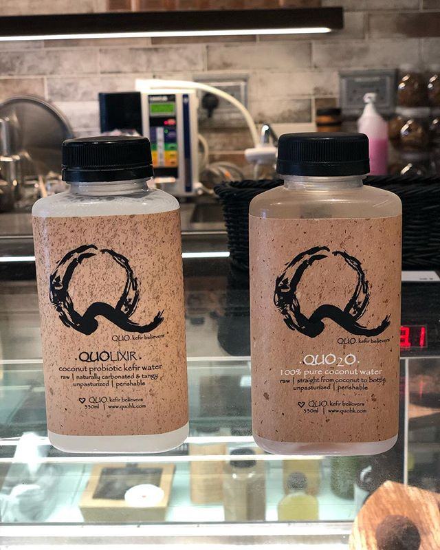 Coconut water and it's probiotic form, kefir coconut water.  Both made locally in Hong Kong from Thai coconuts.  Fresh deliveries weekly by @quohk.  #hkig #hkfoodlover #hkeats #healthyfood #foodnetwork #healthylifestyle #foodstylist #takeaway #eatrealfood #hongkongfood #foodforfoodie #picoftoday #goodfood #eatwelllivewell #hkfoodie #foodblogger #powerfoods #eatclean #eatrealfood #photogrid #food4thought #foodaholic #coconutyoghurt #probiotics #foodphotography #foodies #foodgram #coconut #drink #coconutwater