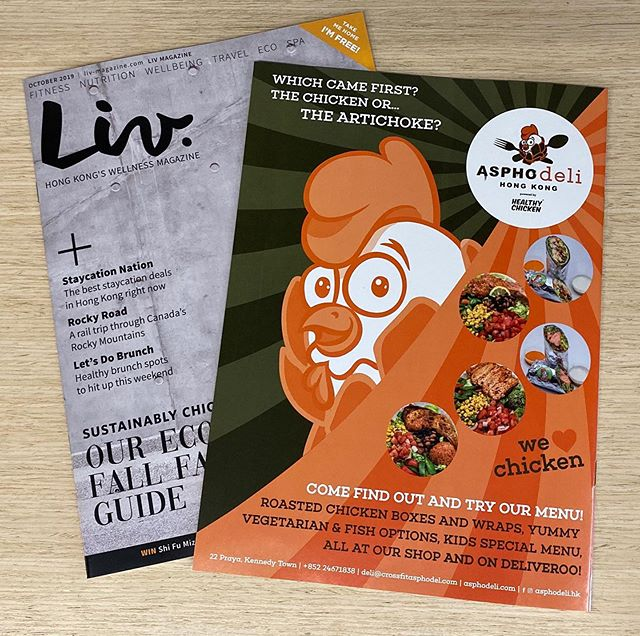 Check out the back cover of the new @liv.magazine! . . . . #chicken #hongkong #shop #food #eat #foodie #delicious #ktown #eats #healthy #localbusiness #madebydeli @healthychicken