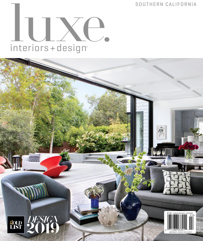 "luxe interiors + design - JAN/FEB 2019 - ""A HANDMADE TALE"""