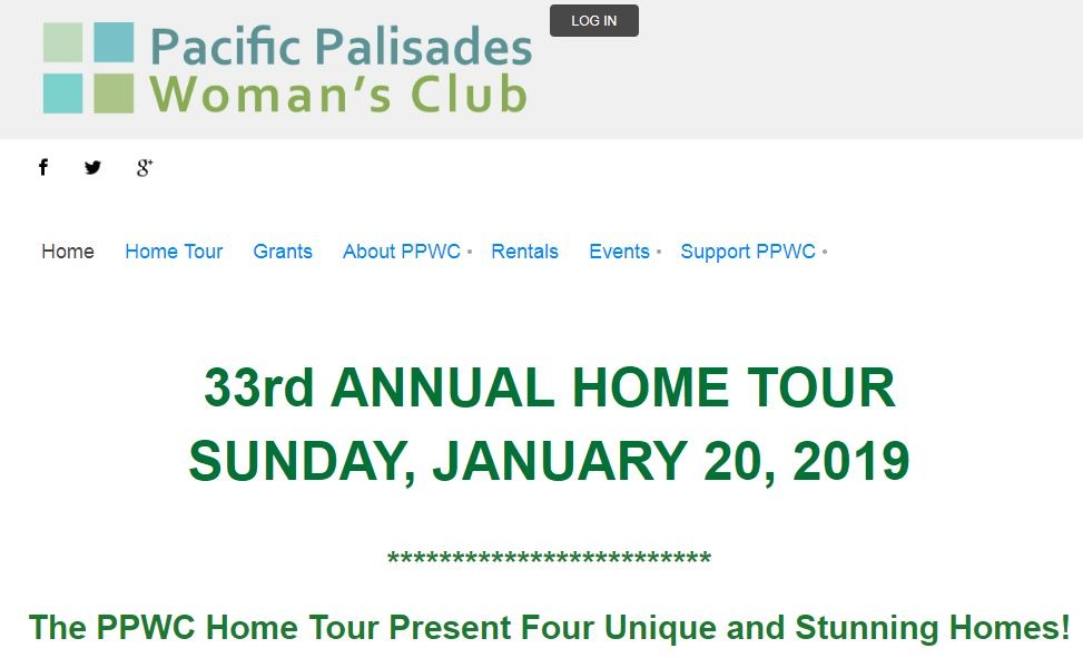 pacific palisades woman's club - 33rd annual home tour - January 20, 2019 - The home tour will feature one of SUBU Design Architecture's latest architecture/interiors project