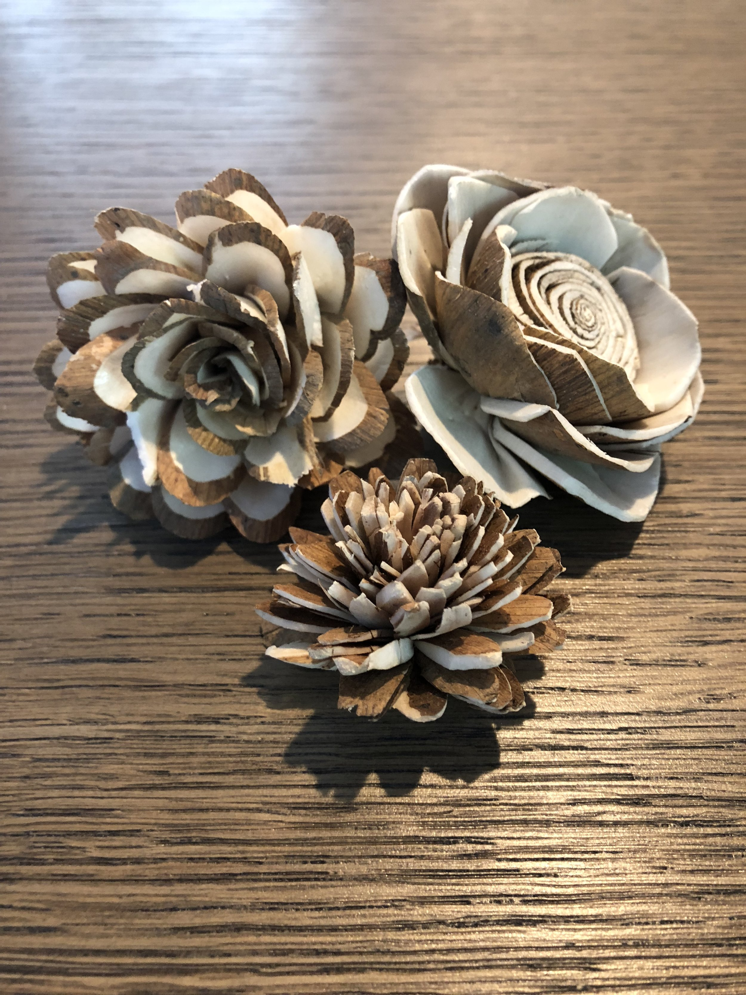 Bark Wood Flowers