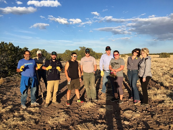 Members of the CTA following a trail work day.  Photo by Pat Valdivia.