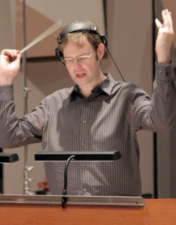 Kevin Kaska conducts the orchestra performing his score for 'The War of the Vendee.' (Navis Pictures)