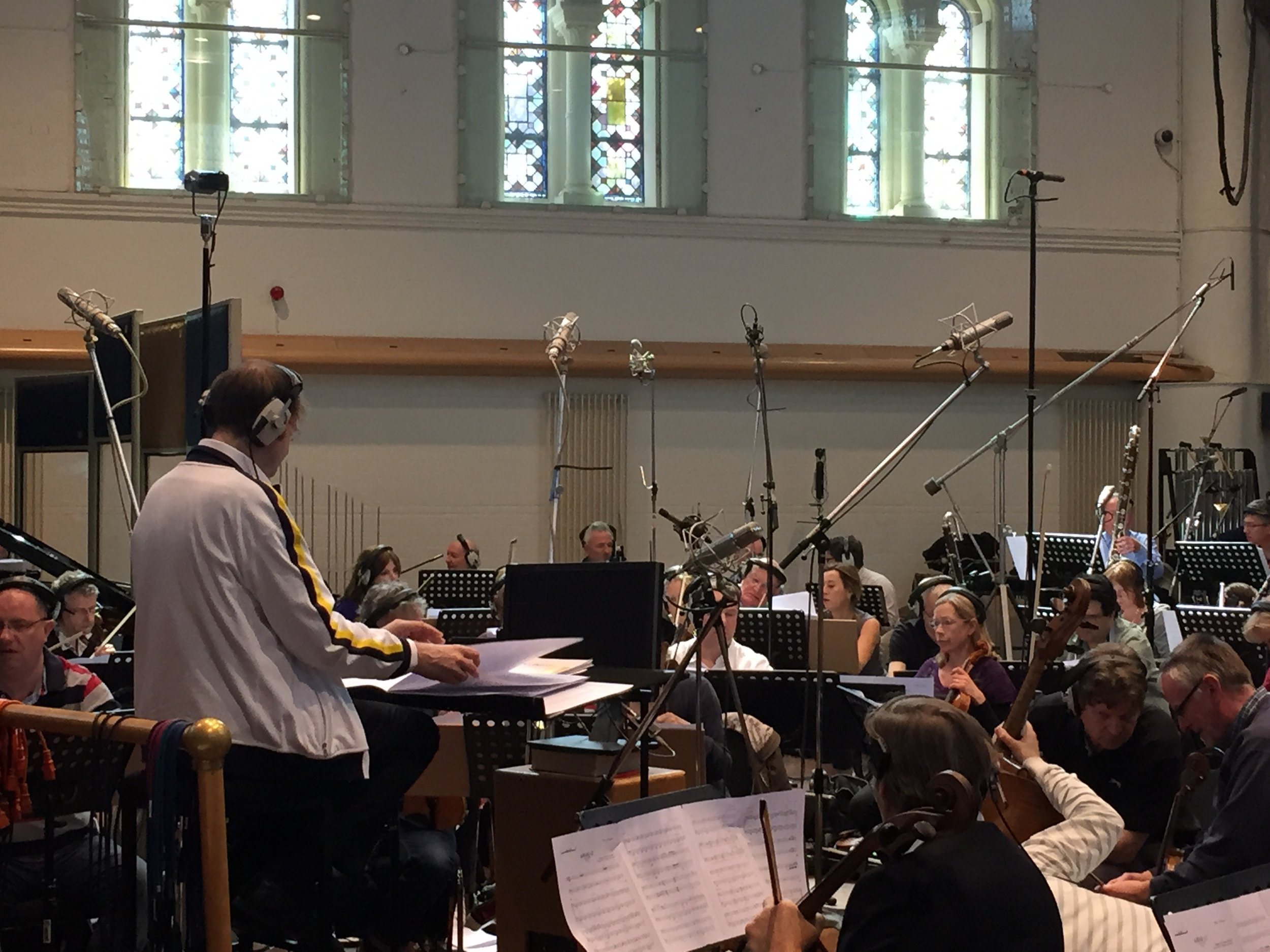 Kaska Conducting at Air Studios