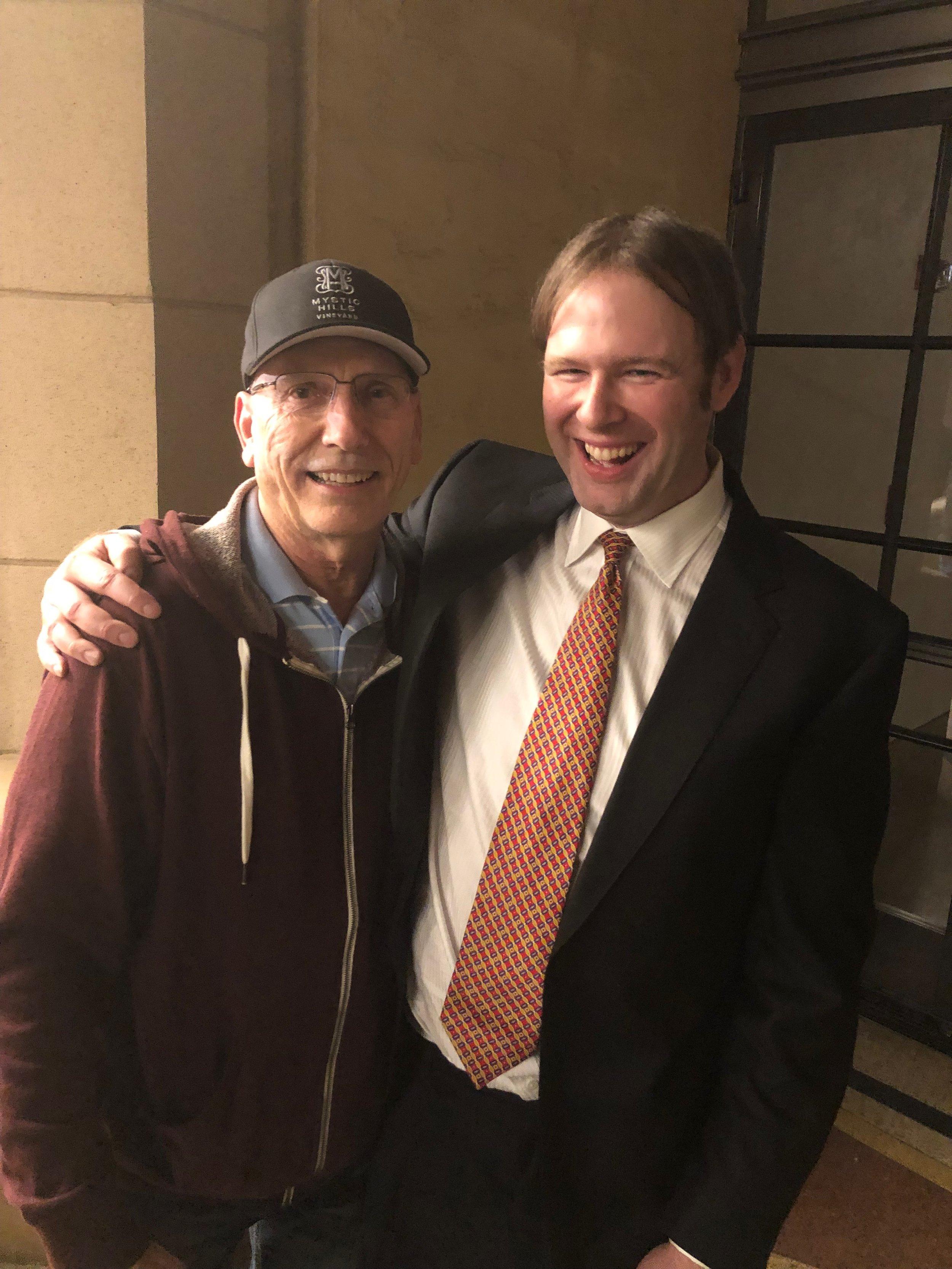 """The Mule"" Editor Joel Cox with Kaska"
