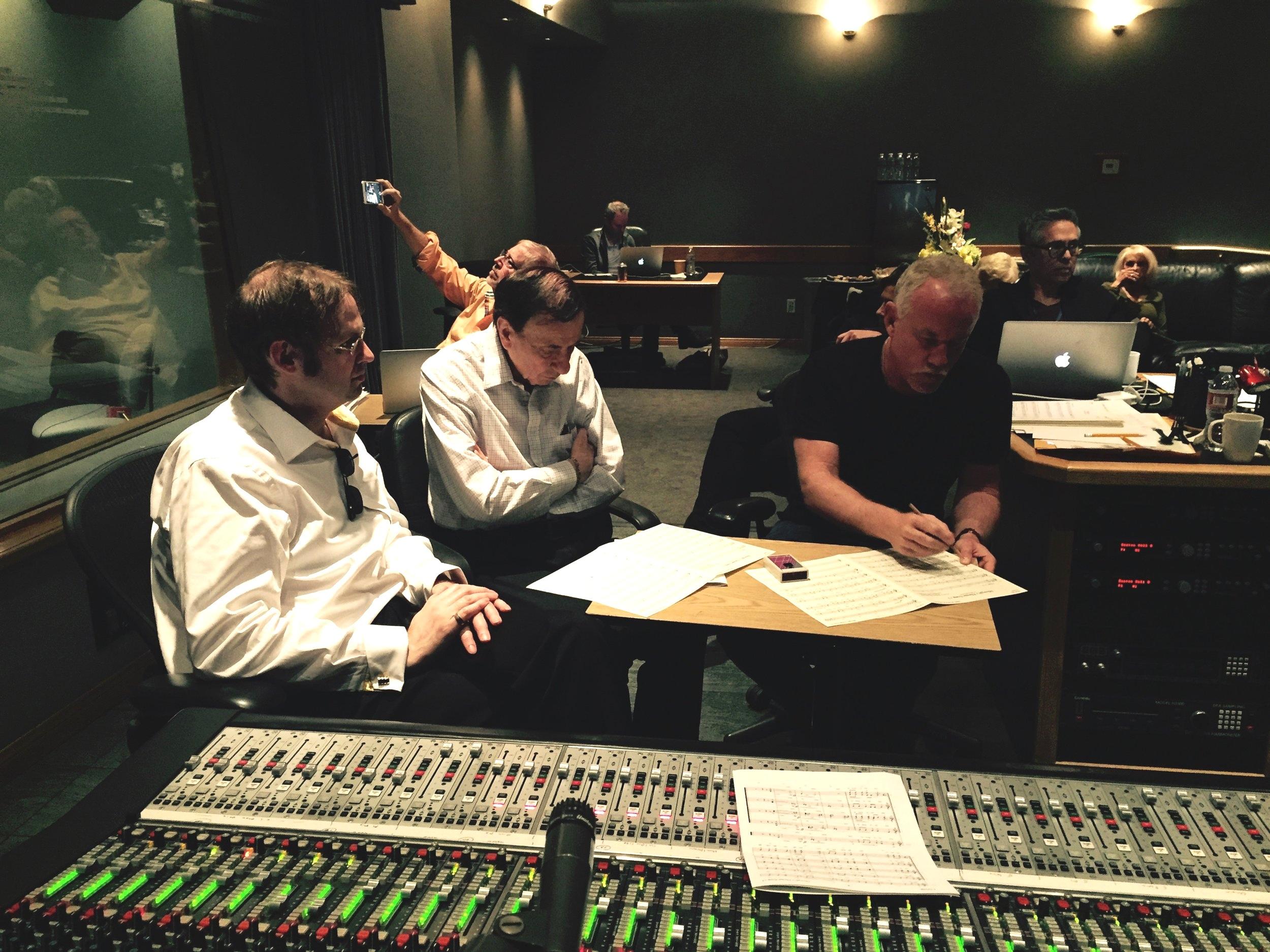 "Kaska, Dick Sherman, & John Debney at ""Jungle Book"" Session"