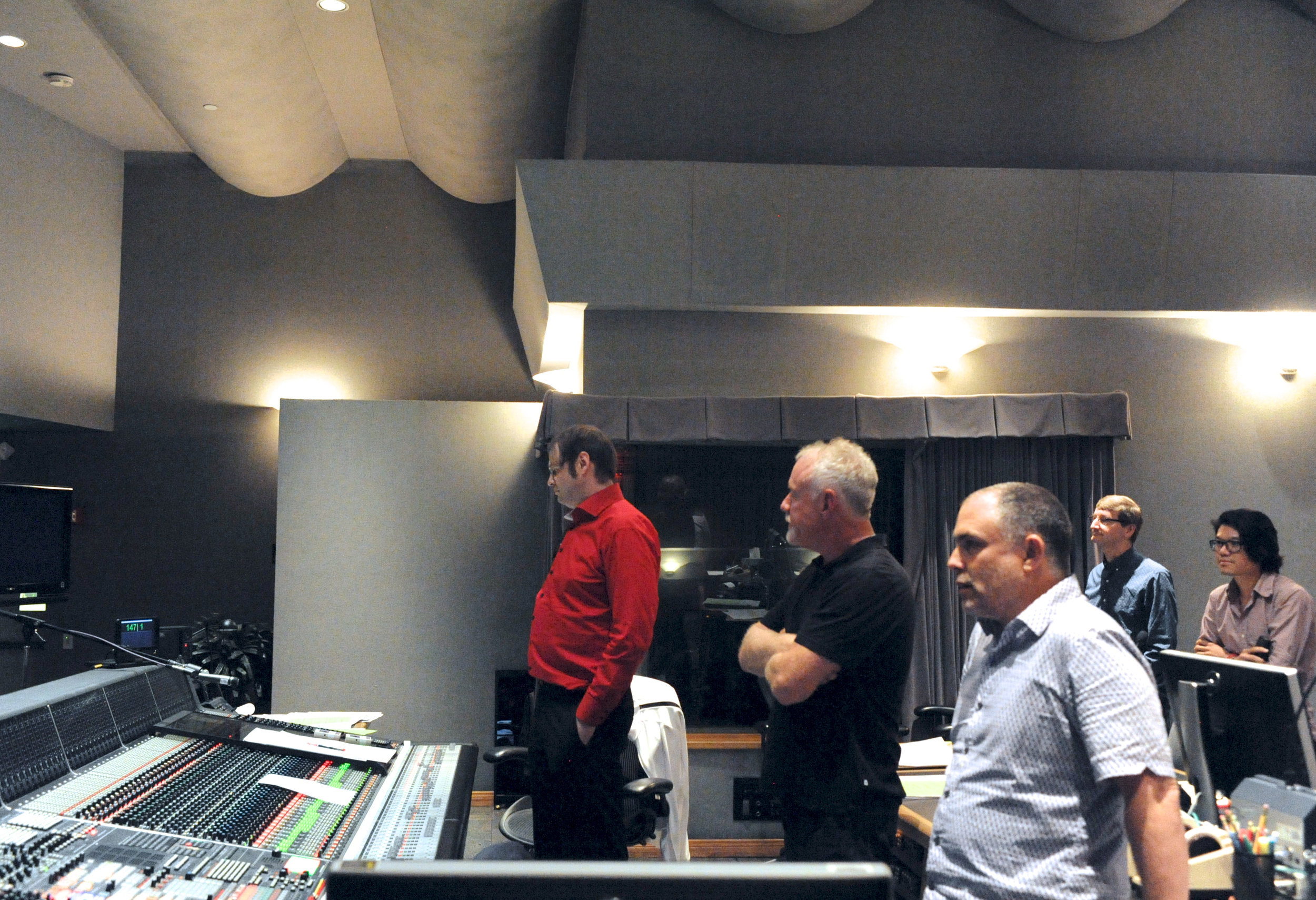 Kaska and John Debney at Sony During Playback
