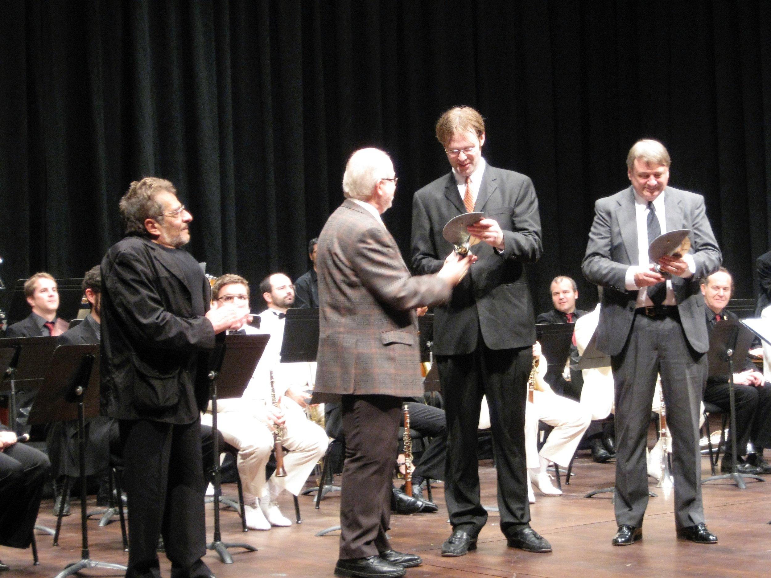 Accepting An Award in Barcelona