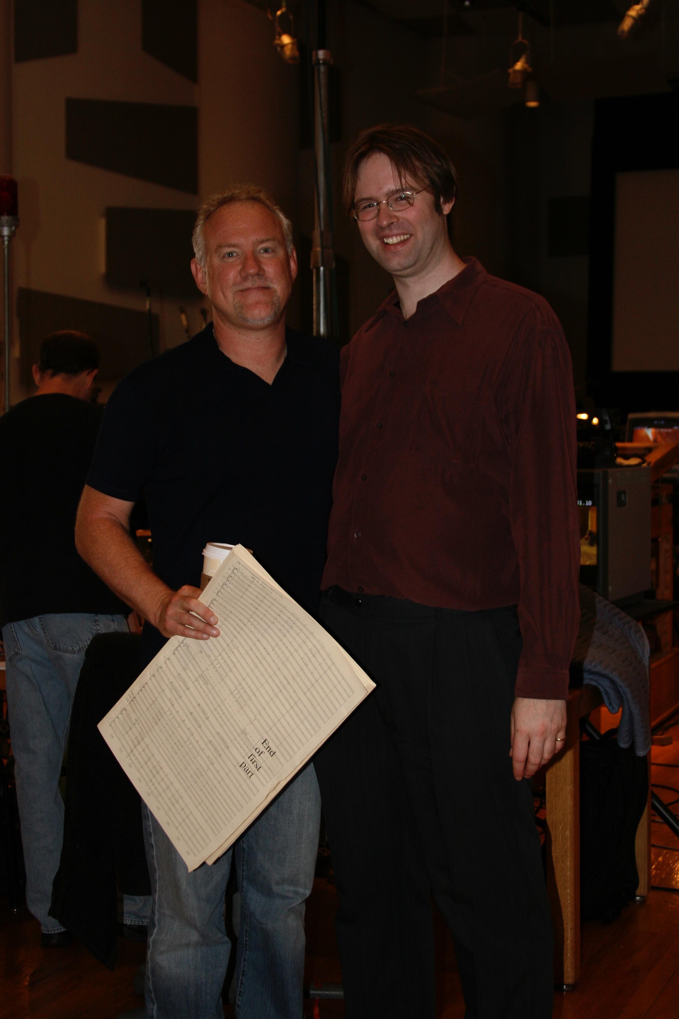 "John Debney & Kaska at ""Evan Almighty"" Session"