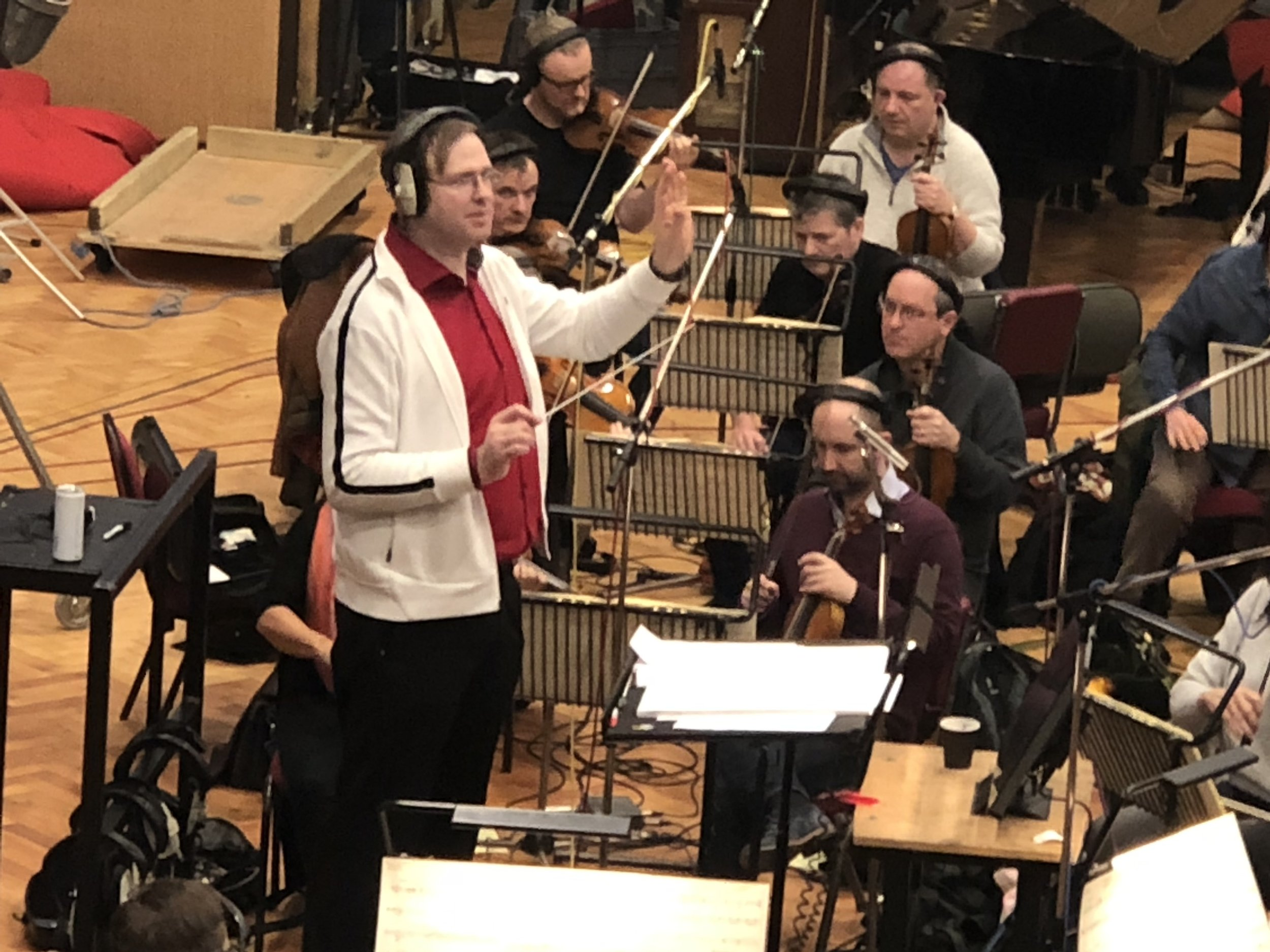 "Kaska Conducting at Abbey Road on the film ""The Missing Link"""