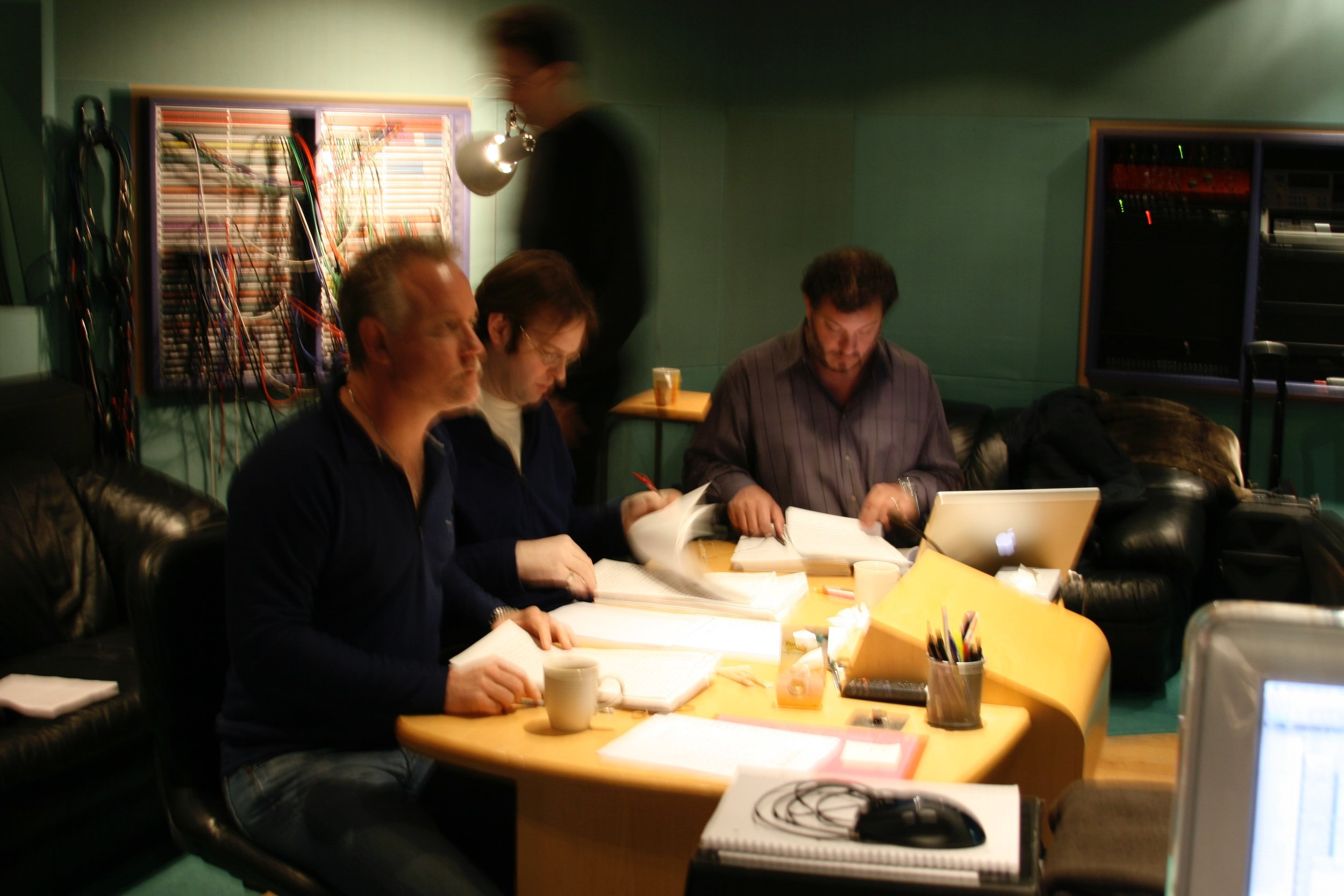 "Recording session for ""Lair"" at Abbey Road"