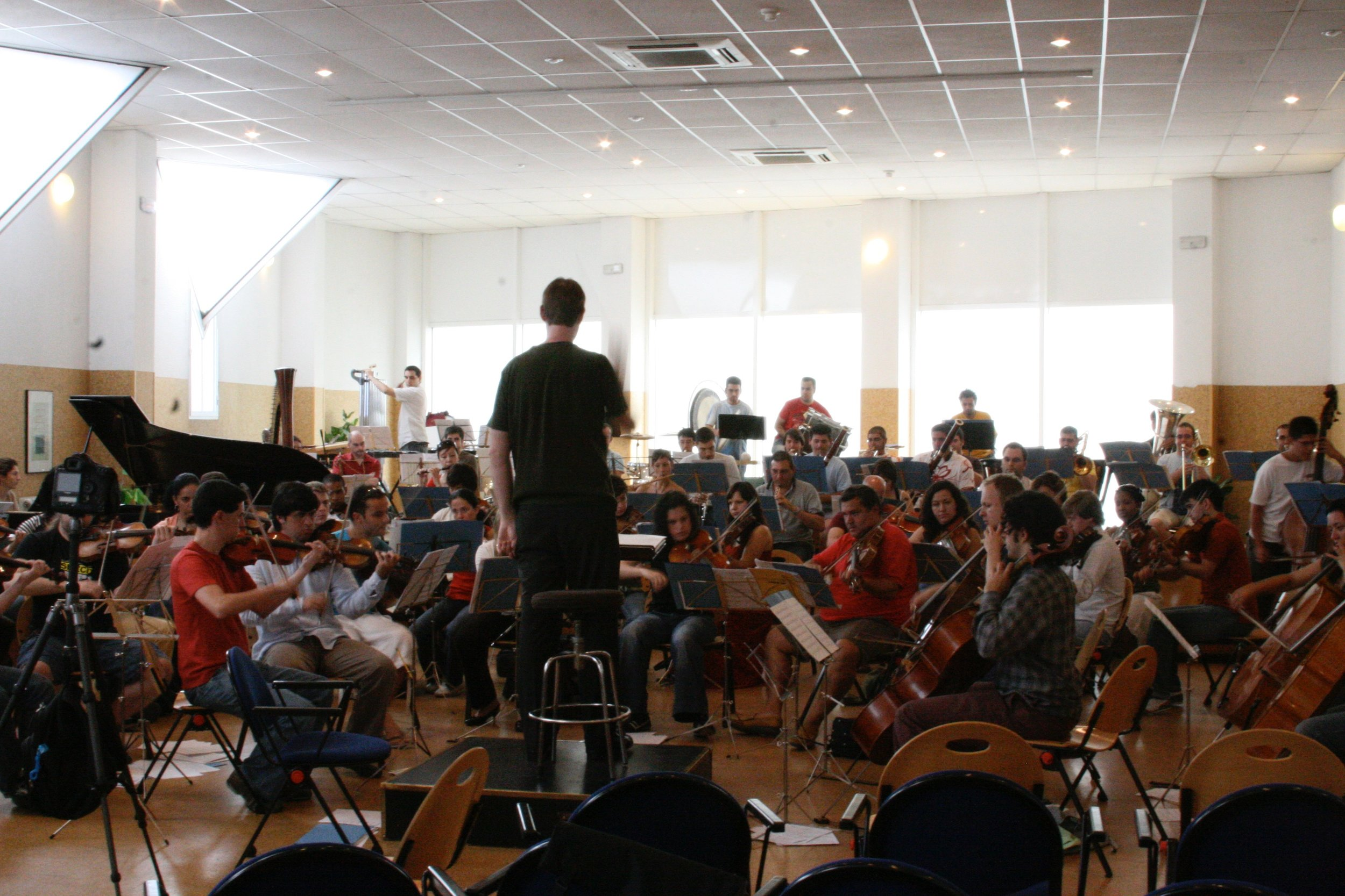 Rehearsal in Madrid