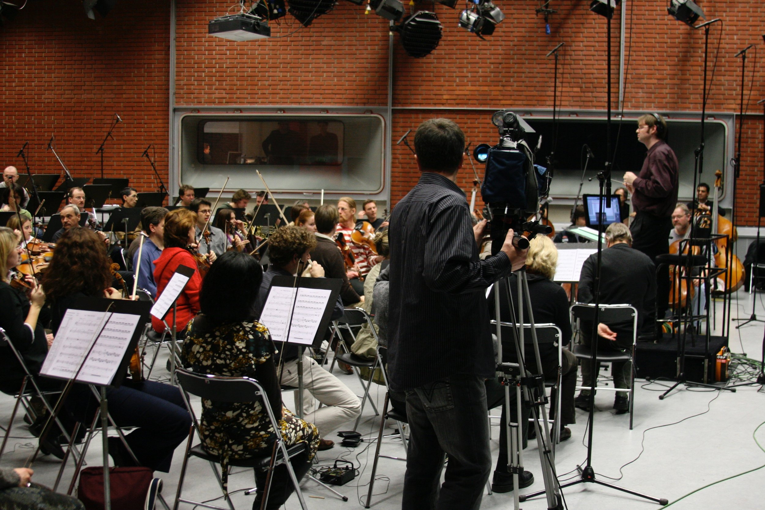 Rehearsing the Bruckner Orchestra in Linz