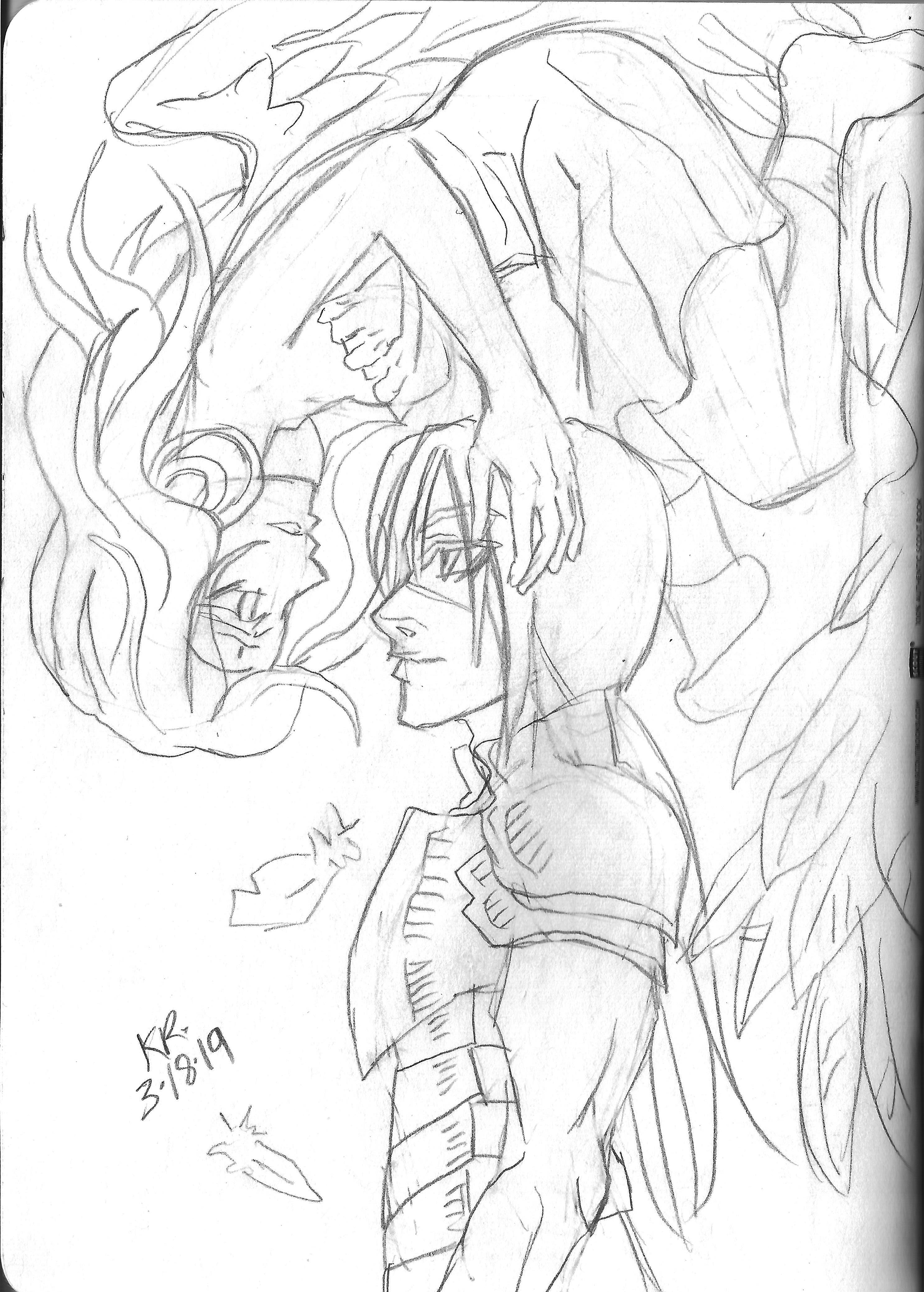 Drawing from the Sketchbook Project sketchbook I did from Vol. 2, you can check it out  here .