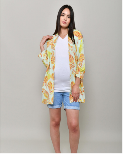 Short pineapple cover-up