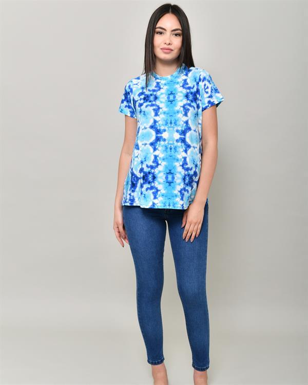 Tie-dye blue t-shirt