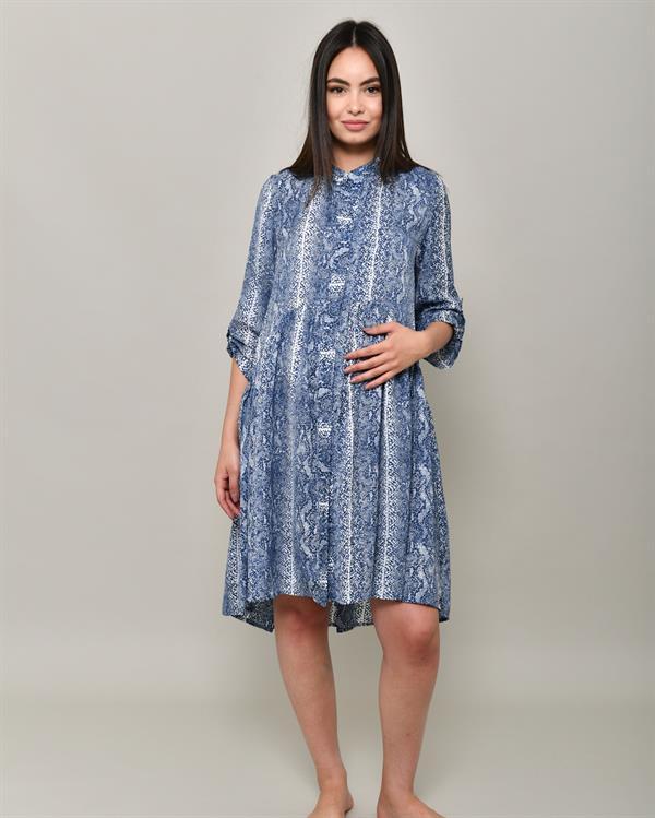 Animal print blue dress