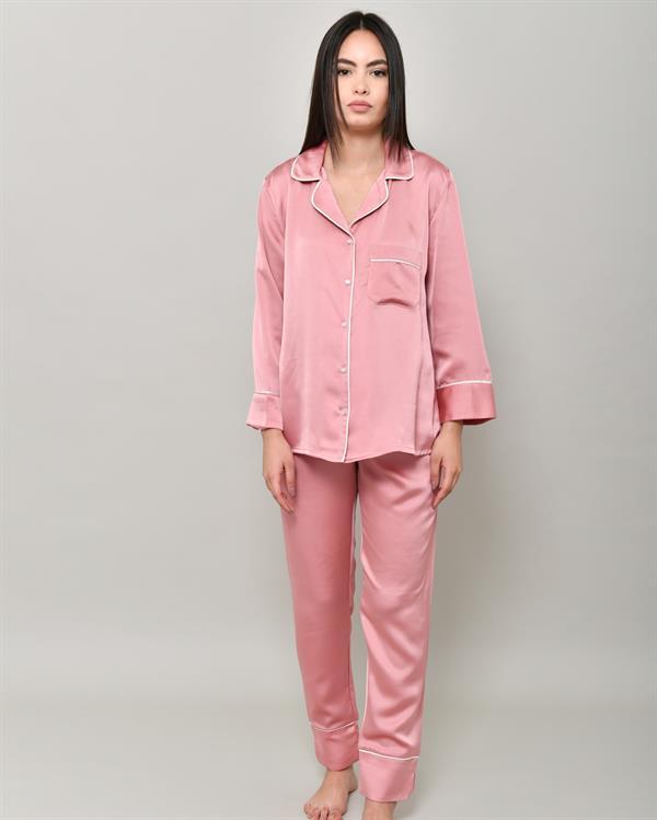 Pink pajama outwear set