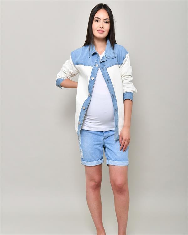 Light blue boyfriend sima shorts