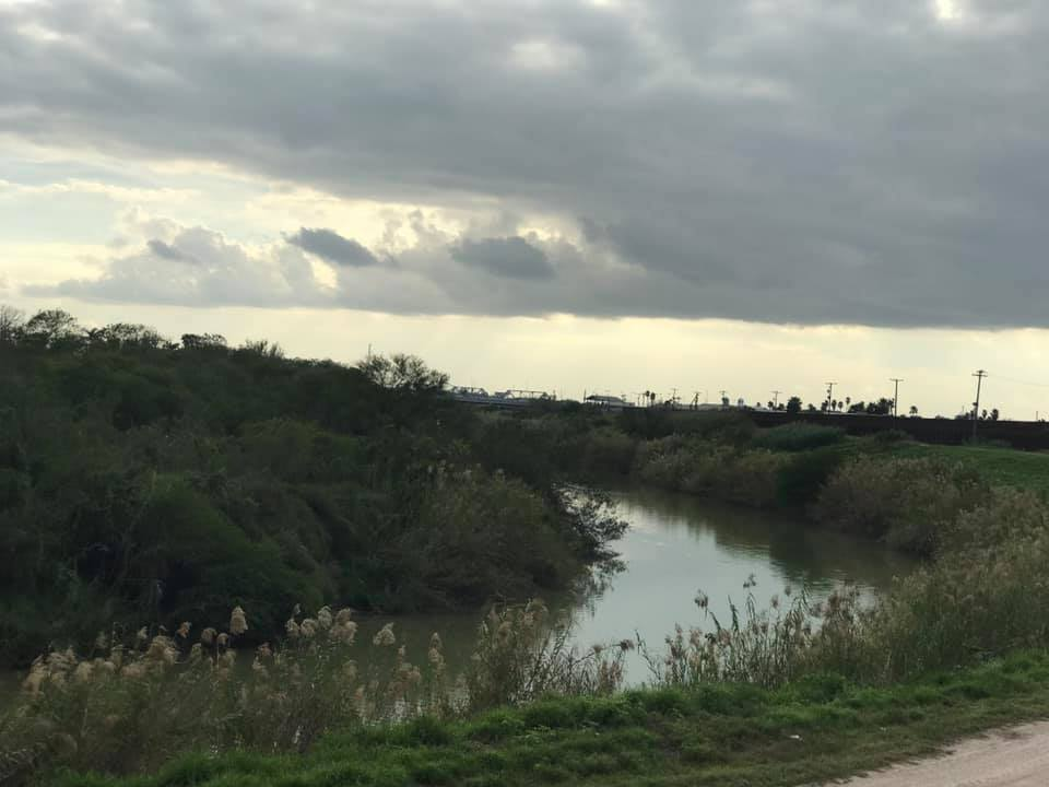 The Rio Grande River at the border near the port of entry from Matamoros, Mexico into Brownsville, TX, USA.