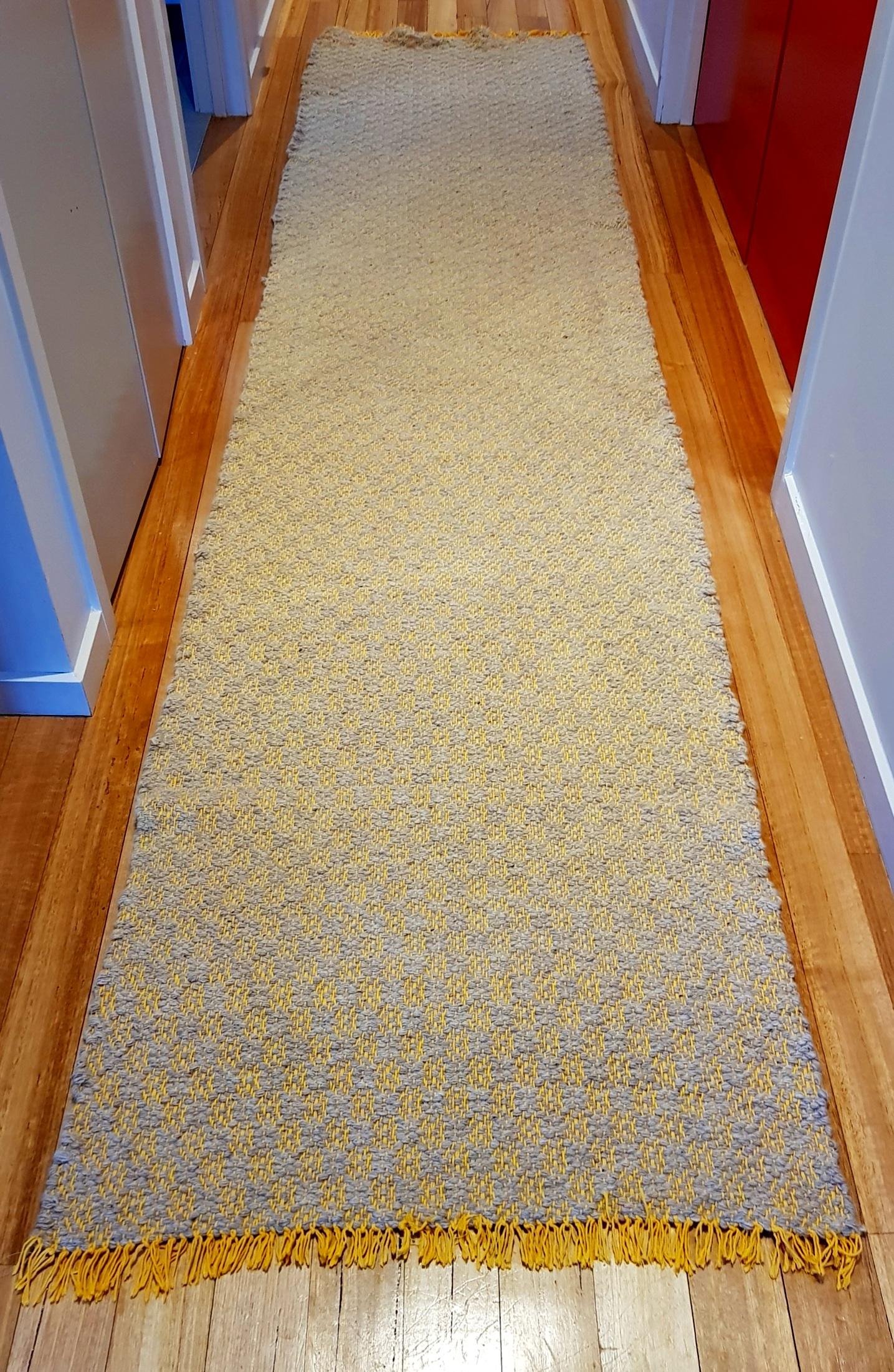 Gold Cotton Floor Runner